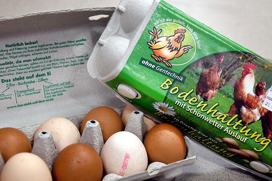 Eier von regionalen Lieferanten