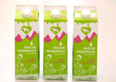 Frische Weidemilch in Tannheim